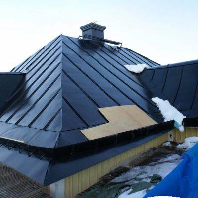 Taket är nu helt klart
