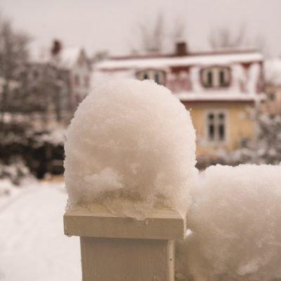Snö och tö både här och där